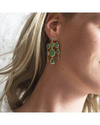 Monica Vinader | Green Siren Chandelier Earrings | Lyst