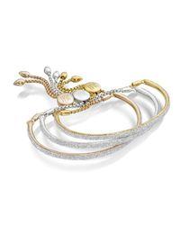 Monica Vinader - White Fiji Diamond Bar Bracelet - Lyst