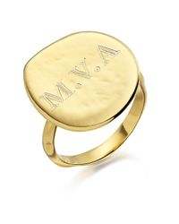 Monica Vinader - Metallic Siren Plain Engravable Ring - Lyst