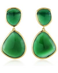 Monica Vinader - Green Siren Cocktail Earrings - Lyst