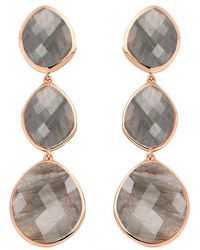 Monica Vinader | Gray Nugget Cocktail Earrings | Lyst