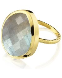 Monica Vinader | Blue Nugget Ring Large | Lyst