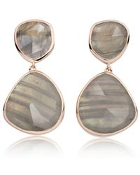 Monica Vinader - Gray Siren Cocktail Earrings - Lyst
