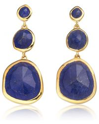Monica Vinader | Blue Siren Small Cocktail Earrings | Lyst