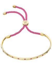 Monica Vinader - Pink Fiji Gem Bracelet - Lyst
