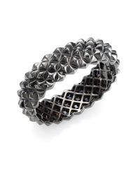 Stephen Webster | Blackened Sterling Silver Studded Bangle Bracelet | Lyst