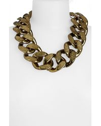 TOPSHOP | Metallic Large Chunky Chain Necklace | Lyst