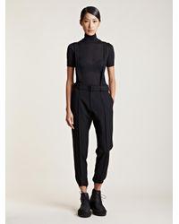 Lyst - Yohji Yamamoto Womens Ski Stirrup Pants in Black f9726d4e0
