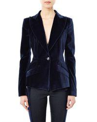 Antonio Berardi | Blue Velvet Singlebreasted Jacket for Men | Lyst