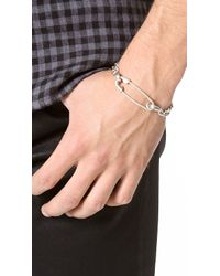 Giles & Brother - Metallic Safety Pin Id Bracelet for Men - Lyst