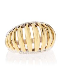 Lagos | Metallic Wide Two-tone Textured Ring | Lyst