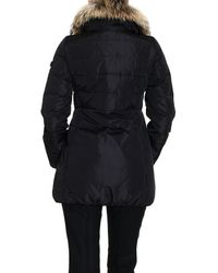 Peuterey | Black Jacket Colonial Fur Medium Nylon Hood | Lyst