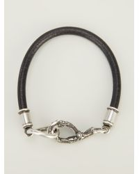 Ann Demeulemeester - Black Bird Foot Bracelet for Men - Lyst