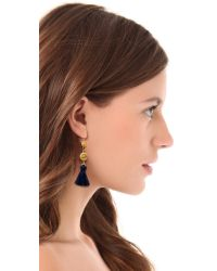 Ben-Amun - Metallic Tassel Earrings - Lyst