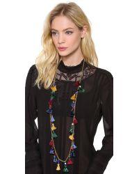 Ben-Amun - Multicolor Long Mini Tassel Necklace - Lyst