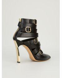 Casadei - Black Buckled Boot - Lyst