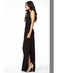 Forever 21 | Black Cutout Jersey Knit Maxi Dress | Lyst