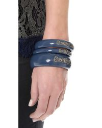 See By Chloé | Blue Bangle Bracelets | Lyst