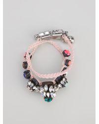 Shourouk - Natural Woven Bracelet - Lyst