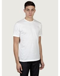 Sunspel | Mens White Short Sleeve Crew Neck T-shirt for Men | Lyst