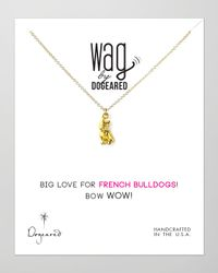 Dogeared - Metallic 14k Vermeil French Bulldog Necklace - Lyst
