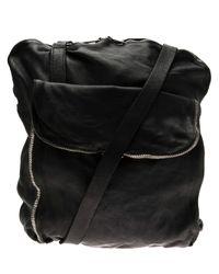 Guidi - Black Double Messenger Bag for Men - Lyst