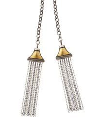 Gurhan - Metallic Mixed Metal Tassel Pendant Necklace - Lyst