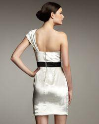 Hoaglund New York | White One-Shoulder Velvet Dress | Lyst