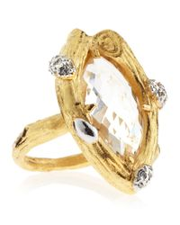Indulgems | Metallic Crystal Quartz Ring | Lyst