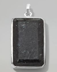 Ippolita | Metallic Sterling Silver Large Rectangular Pendant in Nuummitelapis for Men | Lyst
