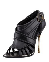 Nicholas Kirkwood - Black Golden heel Cage Bootie - Lyst