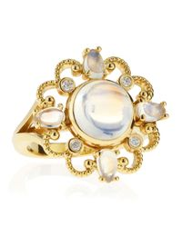 Penny Preville - Metallic Imperial Yellow Gold Cabochon Moonstone Ring Size 6 - Lyst