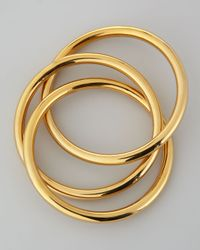 Rebecca Minkoff | Metallic 18k Gold Plated Interlocking Bangles | Lyst