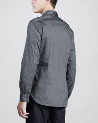 John Varvatos - Onepocket Longsleeve Shirt Dark Gray for Men - Lyst