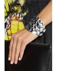 Anndra Neen - Metallic Petal Silverplated Cuff - Lyst