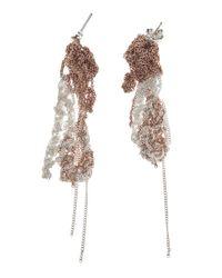 Arielle De Pinto - Metallic 2tone Drip Earring - Lyst