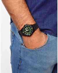ASOS - Black Casio Watch Mrw200h3bvef for Men - Lyst