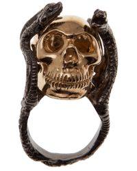 Delfina Delettrez | Metallic Skull Ring | Lyst
