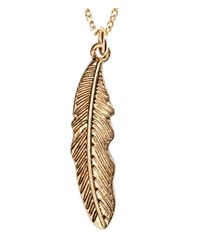 H&M - Metallic Necklace with Feather - Lyst