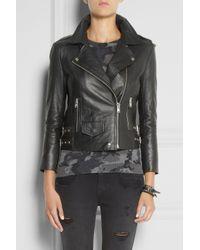 OAK | Black Rider Leather Biker Jacket | Lyst