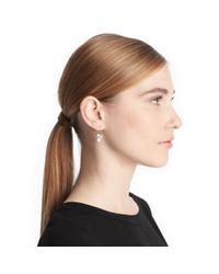 COACH | Green Double Drop Stone Earrings | Lyst