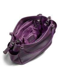 COACH - Purple Baby Bag Tote in Saffiano Leather - Lyst