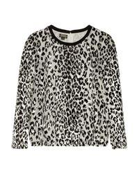 Giambattista Valli - Multicolor Leopard-Jacquard And Silk-Chiffon Top - Lyst