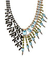 Joomi Lim - Multicolor Asymmetric Crystal Necklace - Lyst