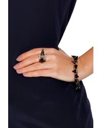 Joomi Lim - Multicolor Matte Black and Crystal Stack Ring - Lyst