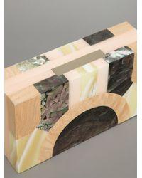 Lanvin - Natural Art Deco Style Clutch - Lyst