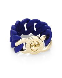 Marc By Marc Jacobs - Blue Katie Rubber Bracelet - Lyst