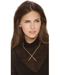 A Peace Treaty | Metallic Chuo Crossover Spears Necklace | Lyst