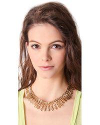 Fallon - Metallic Ines Bib Necklace - Lyst