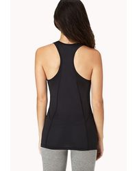 Forever 21 - Black Active Contrast Racerback Workout Tank You've Been Added To The Waitlist - Lyst